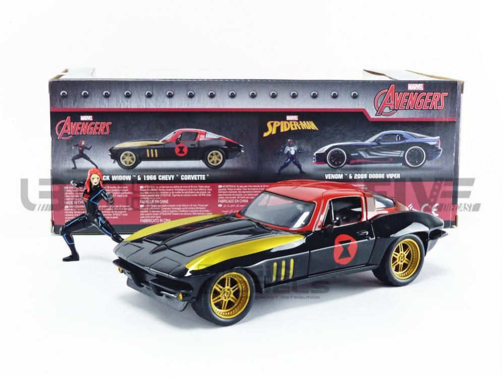 CHEVROLET BLACK WIDOW - WITH FIGURE - 1966