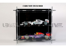 DISPLAY CASE MULTICASE 2X1 - FOR 2 PIECES 1/18 SCALE CARS