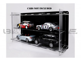 DISPLAY CASE MULTICASE 2X2 - FOR 4 PIECES 1/18 SCALE CARS