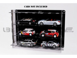 DISPLAY CASE MULTICASE 3X2 - FOR 6 PIECES 1/18 SCALE CARS