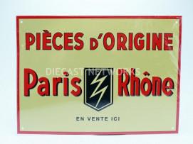 PLAQUE METAL PARIS RHONE